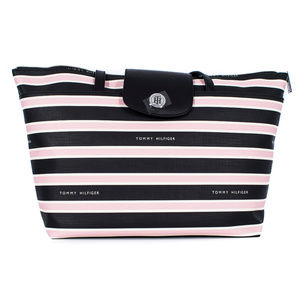 Tommy Hilfiger Pink Striped Tote Purse #11217